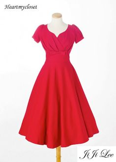 REESE swing or pencil vintage dress inspired from custom made