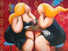Susan de Waardt-Ruiter dikk dame, art, ilustraçõ, schilderijen, bbw