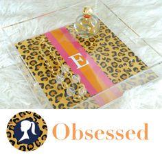 leopard print, lucit tray, monogram, leopardanim print