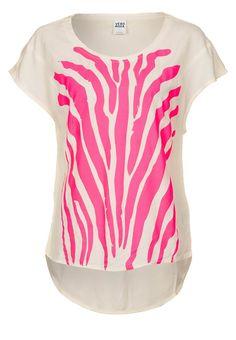 Vero Moda - ANIMAL NEON - Print T-shirt - white