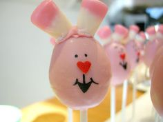 Surprised Easter Bunny Cake Pops