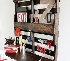 pallet folding desk, idea, pallet desk, desks, hous