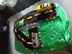 Little boy's birthday cake