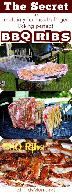 The Secret to Melt in Your Mouth, Finger Licking Perfect BBQ RIBS! at TidyMom.net
