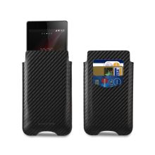 Funda Xperia Z1 Made For Xperia - Estuche Card Carbon Negra  $ 306.11