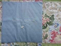 Braille Bible Verse Beaded on a Beautiful Quilt by underHisword