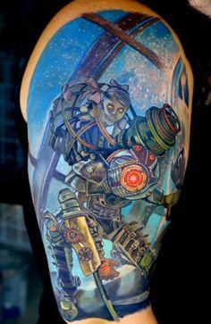 Bioshock: Big Sister tattoo