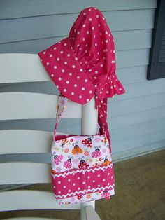 Childs Crayon Tote Bag or Bible cover and bonnet by civilwarlady, $24.50