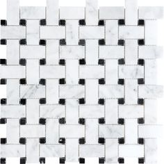 �12-in x 12-in White Natural Stone Mosaic Basketweave Wall Tile