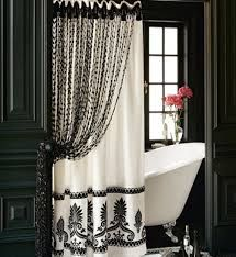 black and white curtain