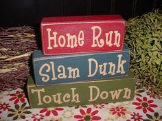 Jesse's little player will need these! Wood Sign Blocks by SimpleBlockSayings
