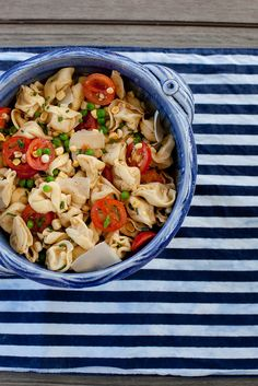Summer Veggie Tortellini Salad with Browned Butter