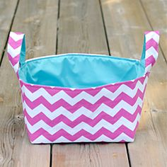 Learn how to make this cute fabric basket.