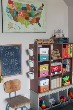 IHeart Organizing: Reader Space: A Rustic Playroom