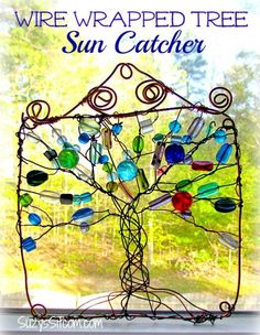 How to make a pretty wire wrapped suncatcher! #diy #beadart