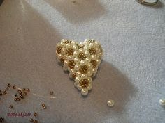 3 D stitching hearts pictures (complete) bead heart, beaded flowers, bead flower