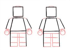 How to draw Lego Star War Characters.