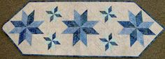 Mini Stars Table Runner ~ Quiltworx.com, made by Certified Instructor, Sandy Lueth