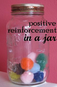 Positive Reinforcement in a Jar.