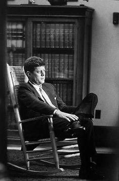 JFK - Rocking Chair, Senate Office  Summer 1958
