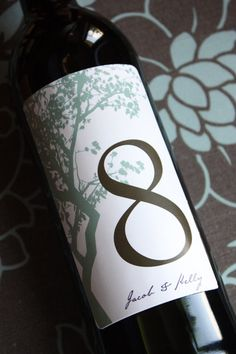 Wine label table numbers