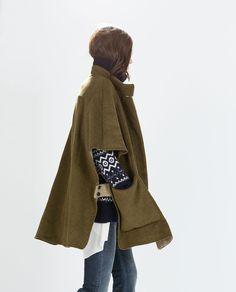 WOOL CAPE from Zara
