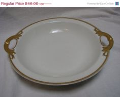 ON+SALE+Haviland+Limoges+France+Gilt+Shallow+by+thelongacreflea,+$39.10