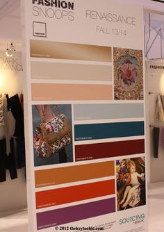 Renaissance #color #forecast for fall 2013 and winter 2014