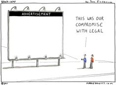 Does your legal department understand the objectives of your social media and ad strategies? Reason for communication.