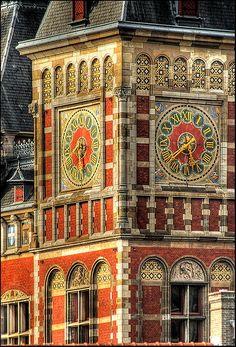 Amsterdam Central Railway Station, Netherlands