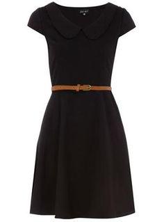 fashion, simpl, cloth, style, peter pan collars, dorothy perkins, peter pan collared dress, collar dress, little black dresses