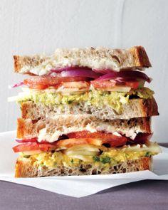 Greek Salad Sandwich vegetarian recipe   Martha Stewart