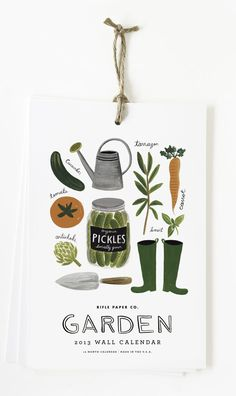 gardening-themed 2013 calendars