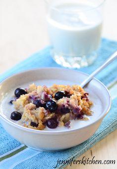 Vegan Baked Blueberry Apple Oatmeal. @Lauren Marks