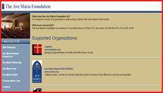 Ave Maria Foundation - Catholic Philanthropists