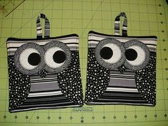owl projects, sewing machines, hot pot, gift ideas, pot holder, owl pothold, mug rugs, quilt tutorials, owls