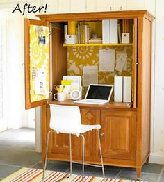 office spaces, furniture makeover, tv cabinets, diy idea, homes, armoires, computer desks, home offices, entertainment centers