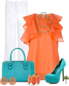 """""""Orange and Teal"""""""