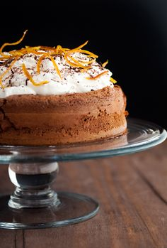 Chocolate Cloud Cake--a flourless chocolate cake flavored with Grand Marnier and orange zest.