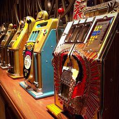 Vintage slot machines at the Golden Gate hotel & casino - Las Vegas