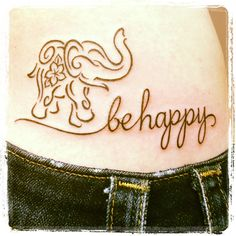 this combines two of the tattoos I want. I may have to steal this idea. #elephant #tattoo