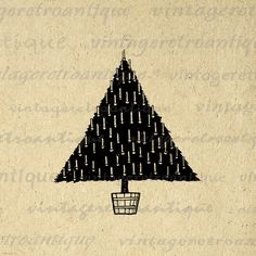 Christmas Tree Image Printable Download by VintageRetroAntique, $3.50