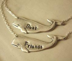 Silver Whale Necklace Set