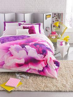Teen Vogue Flower Girl Violet Comforter Set