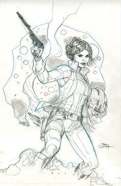Princess Leia #1 Cover Pencils by TerryDodson on deviantART