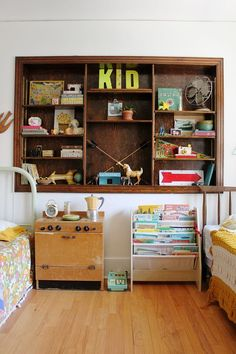 This is such a happy kid space. I love the mix of textures and soothing color.