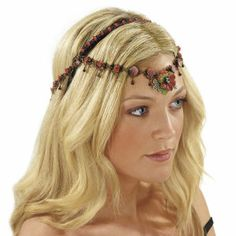 Renaissance Floral Headpiece - New Age, Spiritual Gifts, Yoga, Wicca, Gothic, Reiki, Celtic, Crystal, Tarot at Pyramid Collection