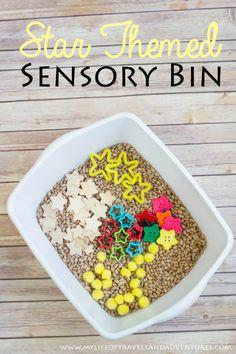 Star Themed Sensory Bin | #Sensory #TotSchool #Homeschool #Toddler