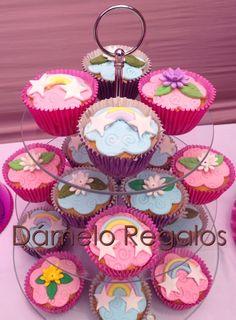 Cupcakes para torta de pequeño Pony