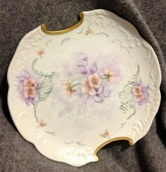Hand Painted Porcelain Dish by BlueHouseMemories on Etsy, $8.00
